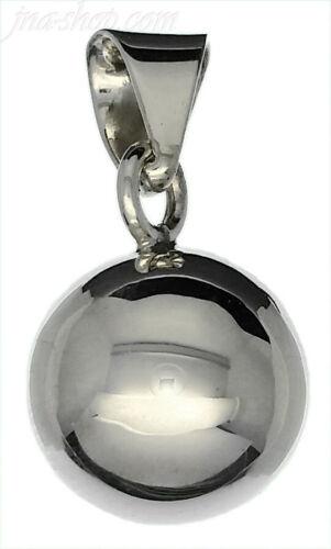 Argent Sterling 925 petit Haute polonais Ball Bell Rattle Charm Pendentif 14 mm