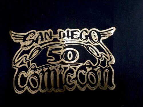 SDCC Comic Con 2019 50th Anniversary Black T-shirt LIMITED WOMAN Size XLGildan