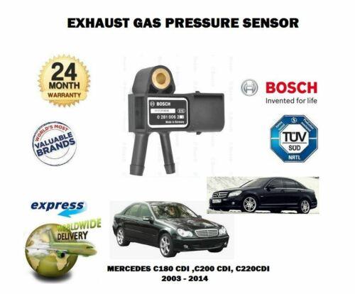 FOR MERCEDES W203 W204 C180 C200 C220 CDI 2003-2014 DPF EXHAUST PRESSURE SENSOR