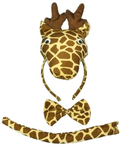 Child 3D Animal Costume Headband Bow Tie Tails Set Zoo Party Kids Book Week