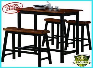 Juego de comedor sillas de mesa banco comida rustico para sala de ...