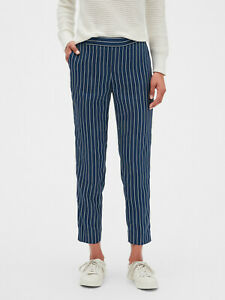 Banana-Republic-Hayden-Stripe-Pull-On-Tapered-Fit-Soft-Ankle-Pant-Sz-8-NWT