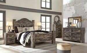 Details about Ashley Furniture Lynnton Queen Poster 7 Piece Bedroom Set