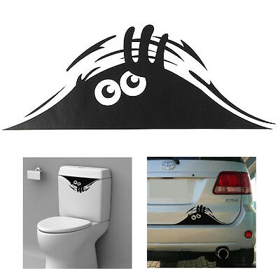Funny Peeking Monster Decal Sticker For Toilet Bathroom Wall Car Decor Art Gift