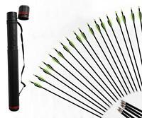 Archery Fiberglass Arrows Screw-in Nock Shaft Target Practice & Arrow Quiver
