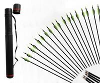 Archery Fiberglass Arrows Screw-in Nock Shaft Target Practice & Arrow Quiver