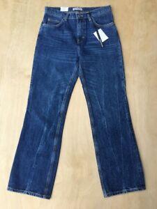 7567e0ed NEW Zara Woman Distressed Denim Straight High Waist Jeans Size 8 NWT ...