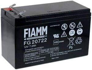 FIAMM FG20722 BATTERIA AL PIOMBO RICARICABILE 12V 7,2AH FASTON ORIGINALE 6,3MM