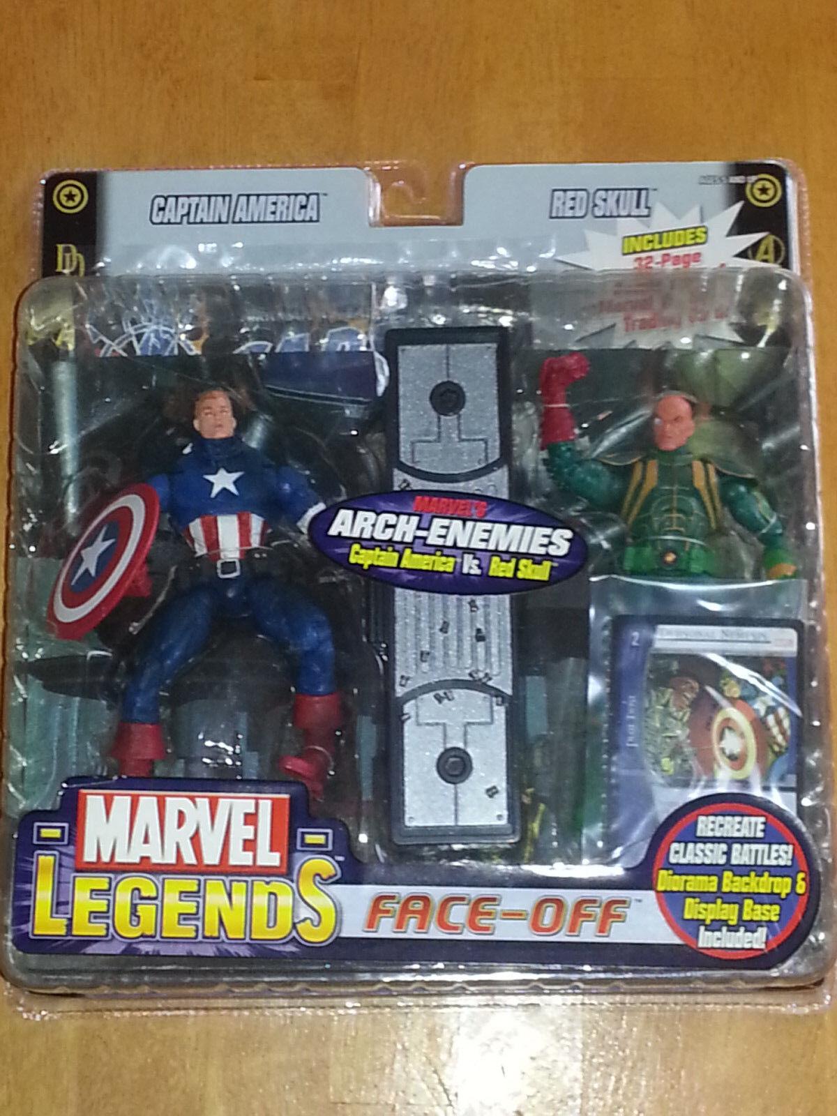 Marvel Leyendas Nuevo-Face Off-Capitán América Vs Barón Strucker Variante