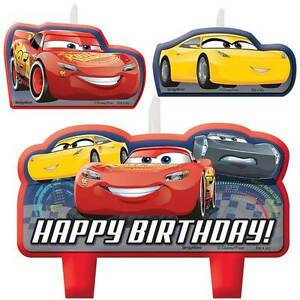 Image Is Loading Disney Cars 3 Mini Candles Set Boy Birthday