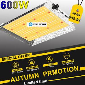 Phlizon 600W LED Grow Lights Sunlike for Indoor Plant Veg Flower Replace HPS HID