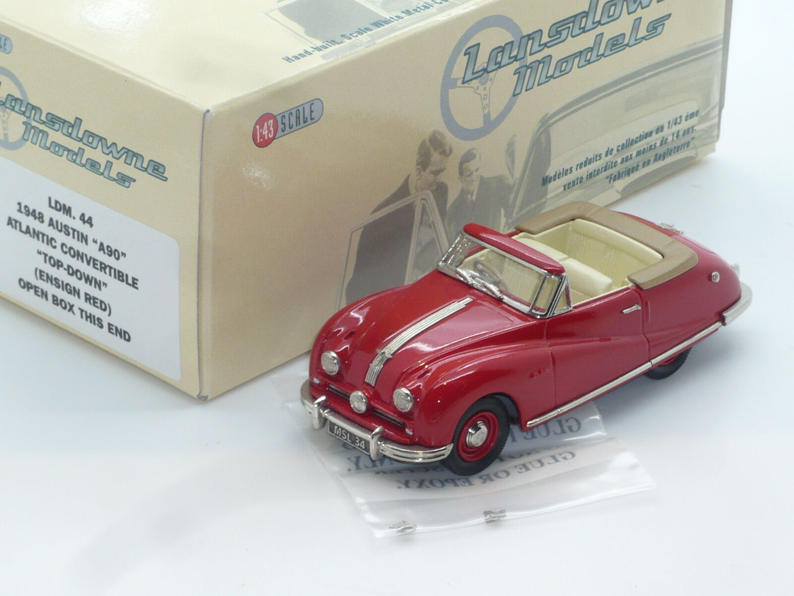 New 1 43 Lansdowne Models LDM44 1948 Austin A90 Atlantic Handbuilt Brooklin