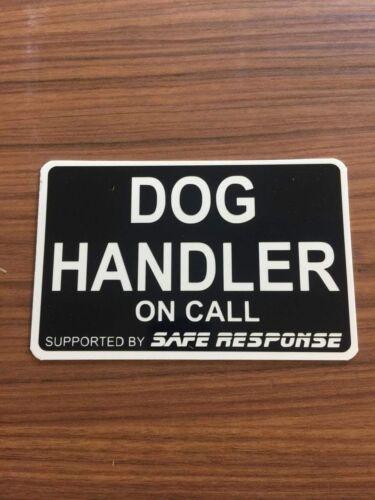 Dog Handler K9 on call Dash Card car windscreen