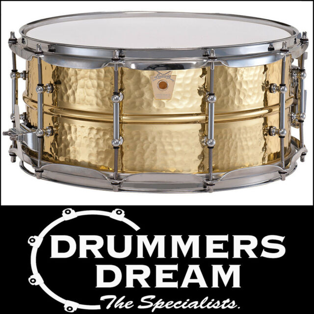 BRAND NEW Ludwig Hammered Brass Snare Drum 14 X 6.5 - RRP $1499 SAVE OFF RRP