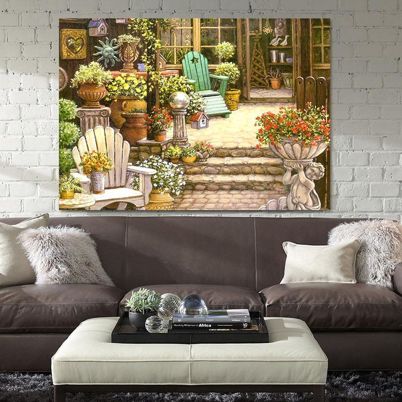 3D Yard, Blumen 24 Fototapeten Wandbild Fototapete BildTapete Familie AJSTORE DE