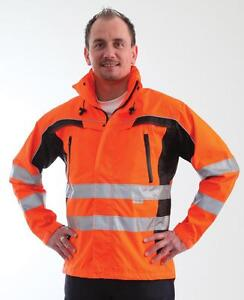 S-xxl En 471:2003 Warnkleidung Gr Warnjacke Eldee Warnschutzjacke Regenjacke