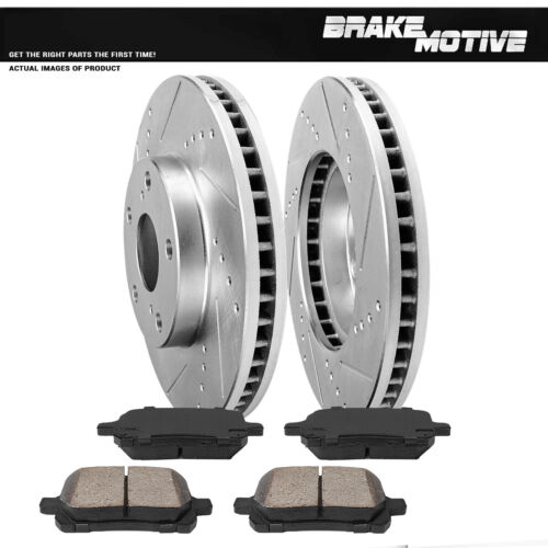 Front Drill And Slot Brake Rotors /& Ceramic Pads For ES300 Avalon Camry Solara