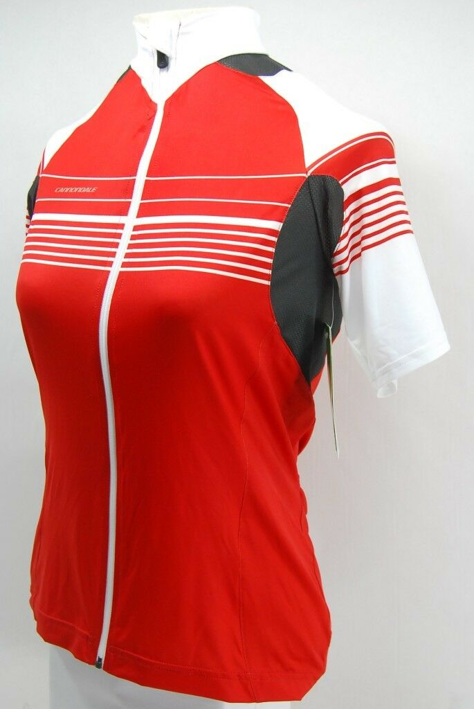 Cannondale Womens L.E Cycling Jersey Short Sleeve - Medium - Red - 2F117M
