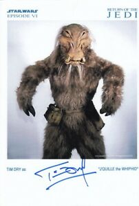 TIM DRY signed Autogramm 20x30cm STAR WARS In Person autograph COA JEDI