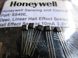 Honeywell SS49E Linear Hall Effect Sensors 3-Pin 6 Pieces USA FAST FREE SHIPPING