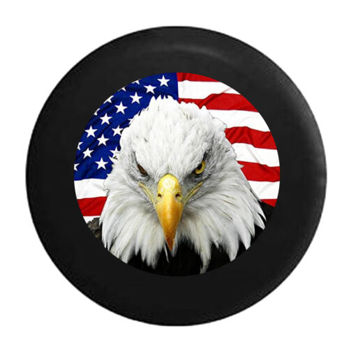 Patriotic American Eagle with USA Flag Spare Jeep Wrangler Camper SUV Tire Cover