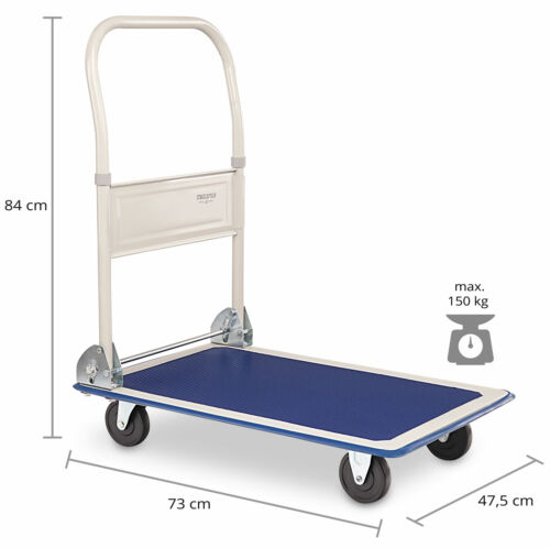 2x set carro de plataforma carro de transporte carro de mano carretilla carretilla de saco carro plegable 150kg