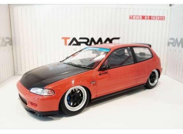 opciones a bajo precio 1 18 Tarmac Works Honda Civic Civic Civic EG6 Spoon Group A Racing rojo NEW  selección larga