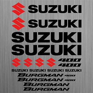 SUZUKI-BURGMAN-400-aufkleber-sticker-roller-scooter-18-Stucke-Pieces