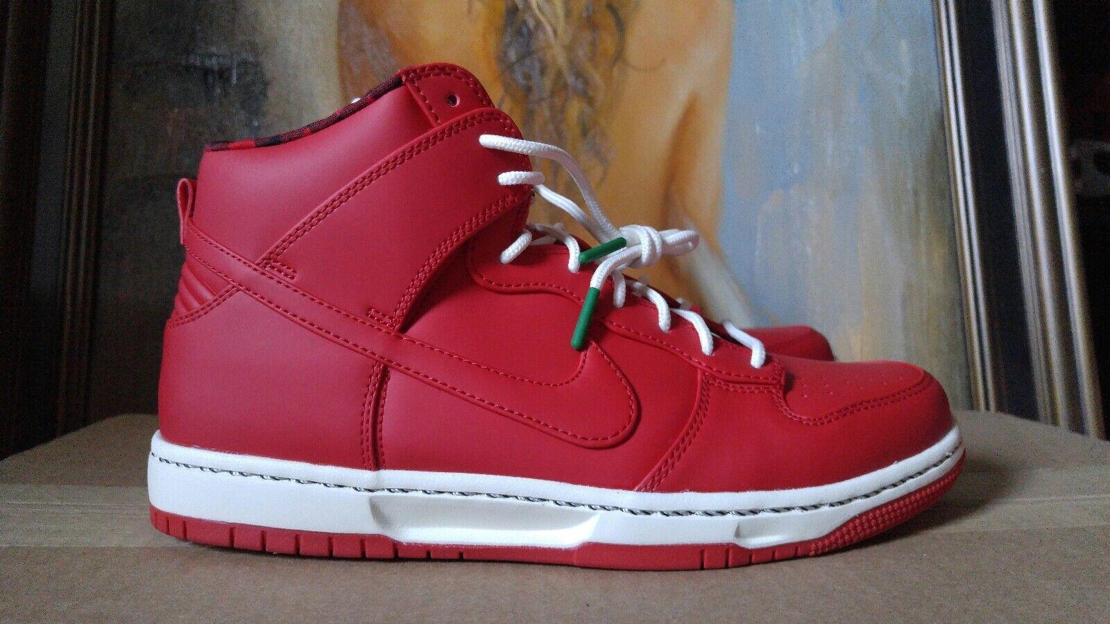 Nike Dunk Ultra Size 9 9.5 Sport Red Sail Black Rain Jacket Umbrella 845055 601