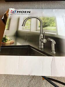 Moen Noell 87506srs Stainless Finish High Arc Kitchen Faucet W Sprayer 26508277478 Ebay