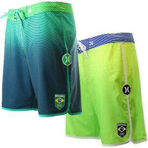 Hurley-Men-039-s-Phantom-Team-Brazil-Olympics-19-034-Boardshorts