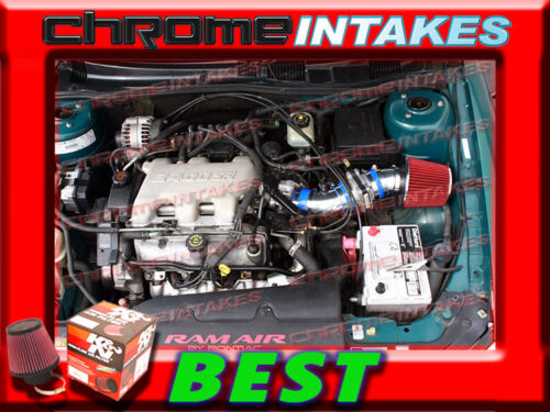 K/&N+BLUE RED 97-05 PONTIAC GRAND AM//ALERO//MALIBU 3.1L 3.4L V6 AIR INTAKE TB