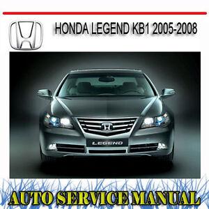 honda legend kb1 2005 2008 repair service manual dvd ebay rh ebay com au honda legend 1999 service manual honda legend ka9 service manual download
