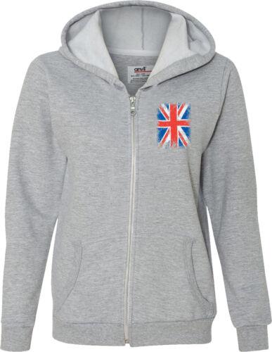 Buy Cool Shirts Ladies Union Jack Full Zip Hoodie Pocket Print