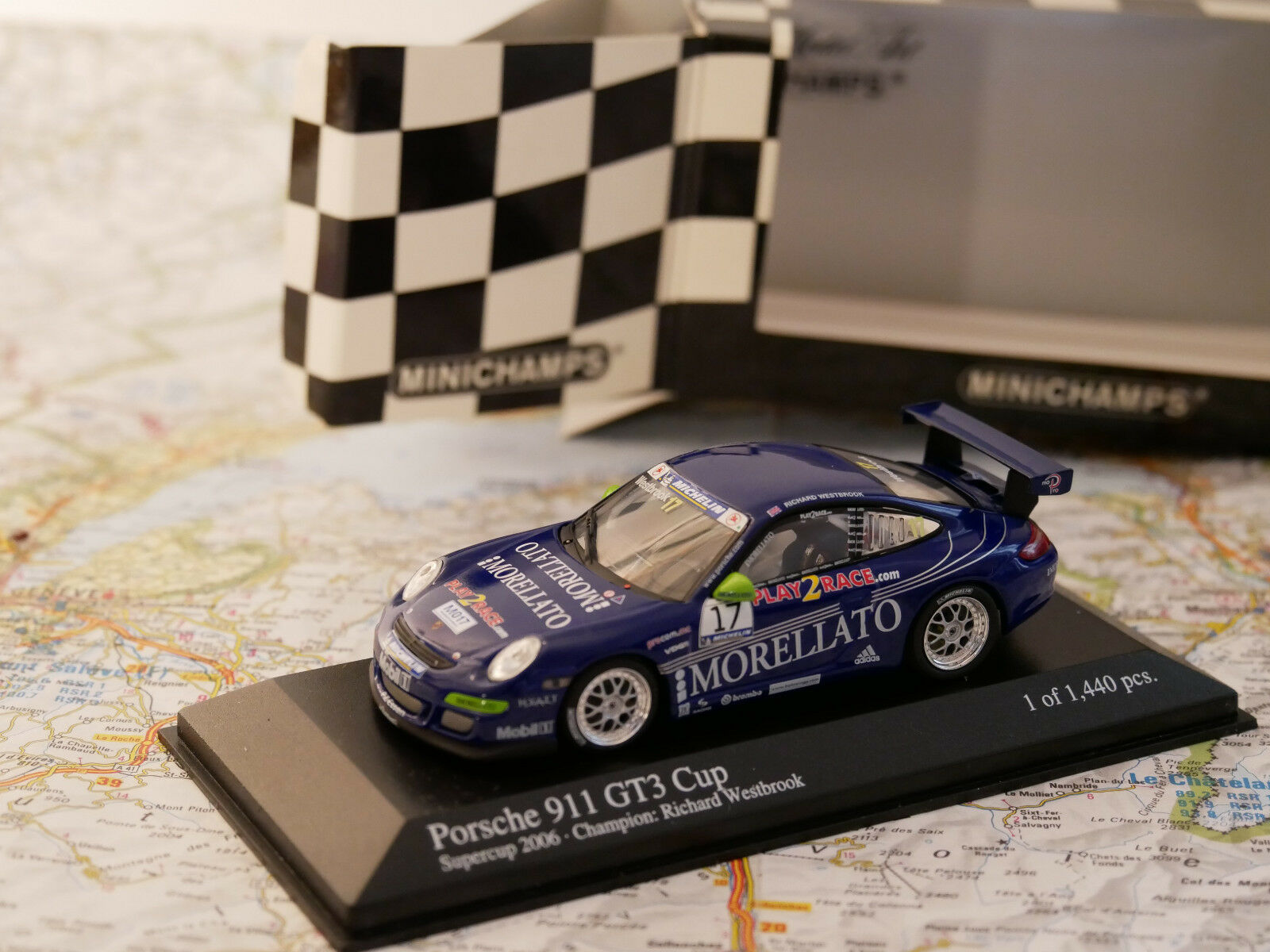MINICHAMPS PORSCHE 911 GT3 CUP SUPERCUP 2006 TEAM MORELLATO  NEW DIE-CAST 1 43