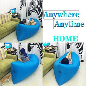Hangout-Laybag-Inflatable-Air-Bag-Camping-Beach-Home-Sleeping-Siesta-Bed