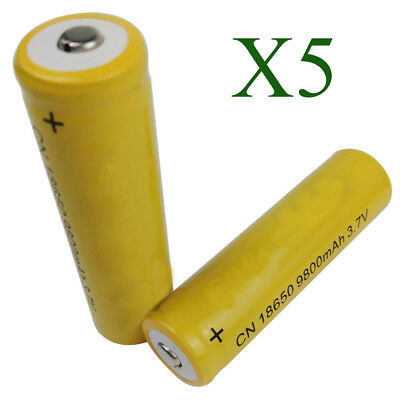 10Pcs 18650 9800mAh Li-ion 3.7V Rechargeable Battery for Flashlight RC Refined