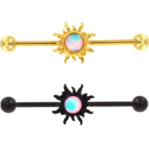 35 mm bar Tribal Sun Center Industriel Piercing Barbell Body Jewelry