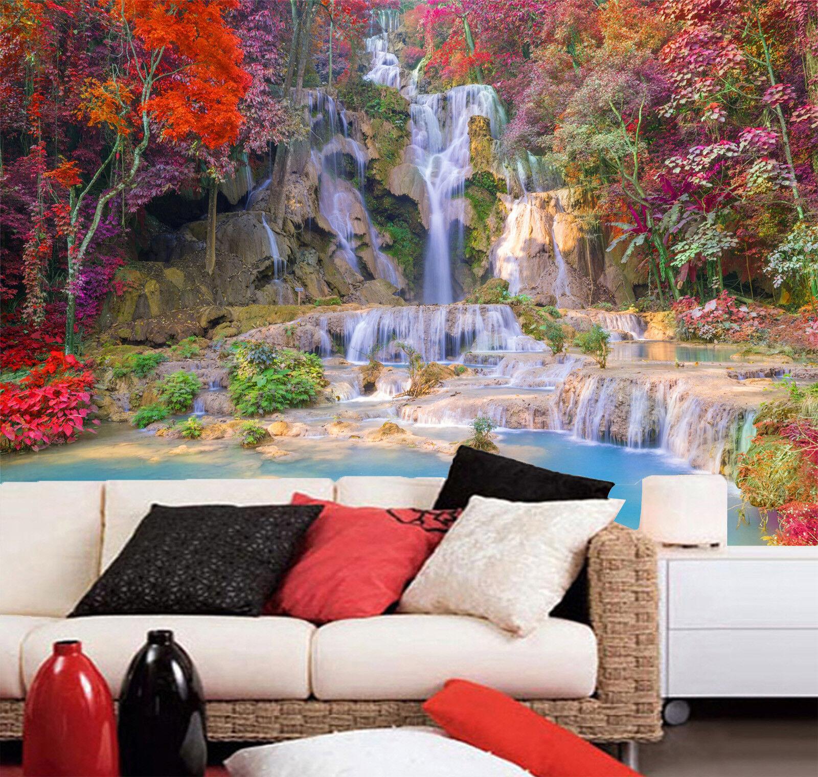 3D Berg Baum Fluss 933 Tapete Wandgemälde Tapeten Bild Familie DE Lemon