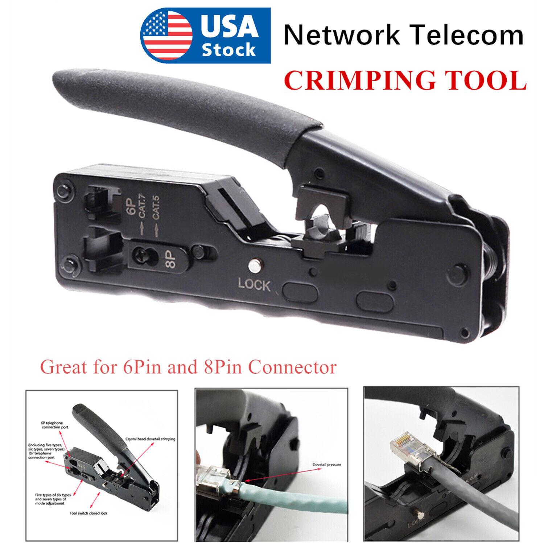 Nastako Network Telecom Crimping Tool For Rj45 Rj11 Rj12 Cat7 Cat6 6a Cat5 5e For Sale Online Ebay