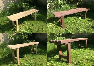 Details About Solid Wood Garden Bench Or Chair Handmade In Uk Variety Of Finishes