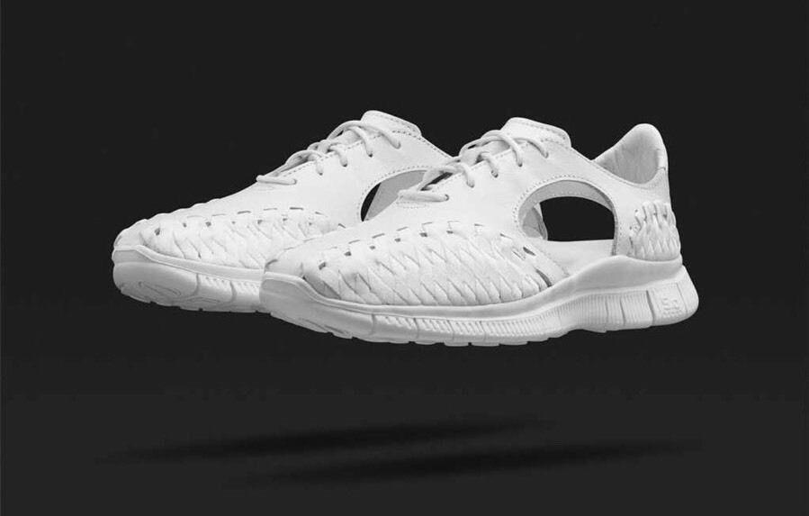 Da Donna Nike Free Inneva Woven Nike Lab Triplo Bianco 813069 111. REGNO Unito Taglia 9.5