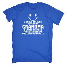 I Smile Because Youre My Grandma Funny Kids Childrens T-Shirt tee TShirt