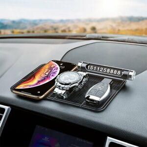 KFZ-Anti-Rutsch-Matte-Haft-Pad-Armaturenbrett-fuer-Handy-Navi-Smartphone-Schwarz
