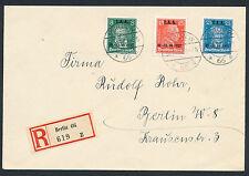 Dt. Reich Arbeitsamt-Tagung 1927 Satzbrief Einschreiben Berlin (S12992)
