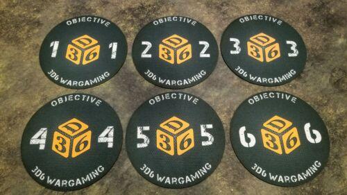 """6/"""" Neoprene Objective Markers Warhammer 40K"""