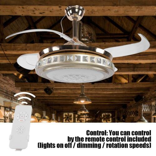 LED Deckenventilator mit Fernbedienung 3 Farben Beleuchtung Leiser Wind Kühler