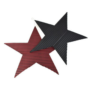 Details About Rustic Corrugated Metal Star Wall Decor Orted Colors 23 Inch