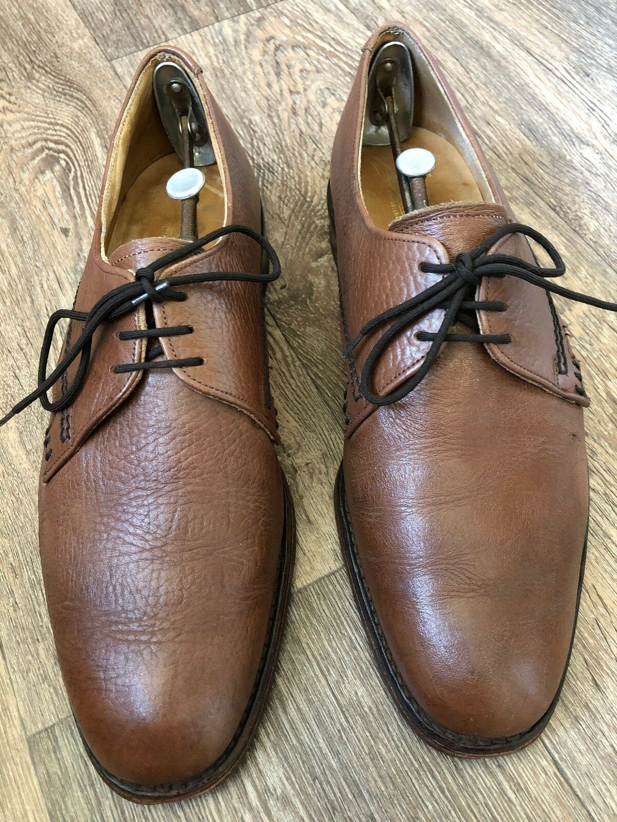 Loake tan all Leder Derby schuhe Größe 8 Hand Crafted Made In England