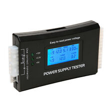PC Computer LCD 20/24 Pin 4PSU ATX BTX ITX SATA HDD Digital Power Supply Tester